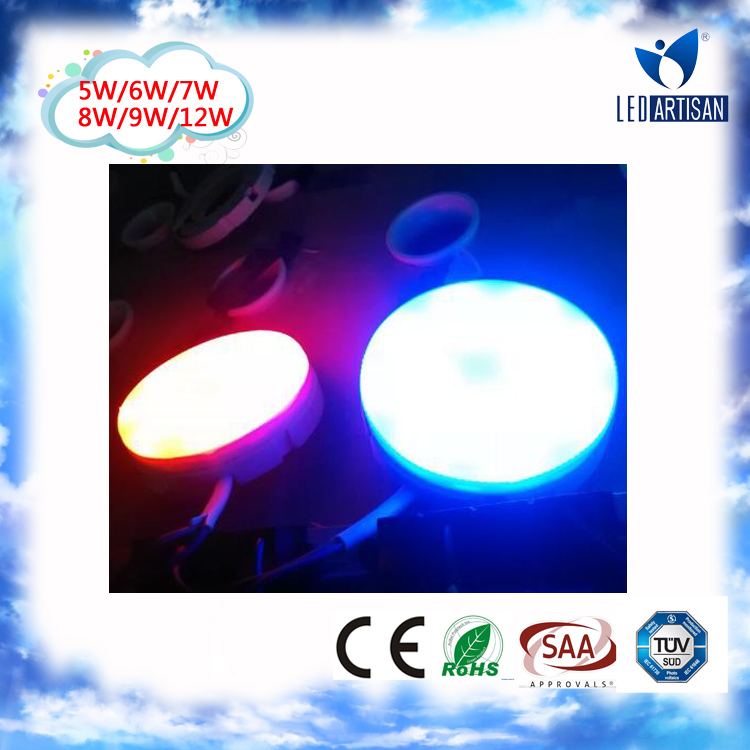 Factory Price good quality gx53 led gx53 socket 7w led downlight white/red/blue indoor using