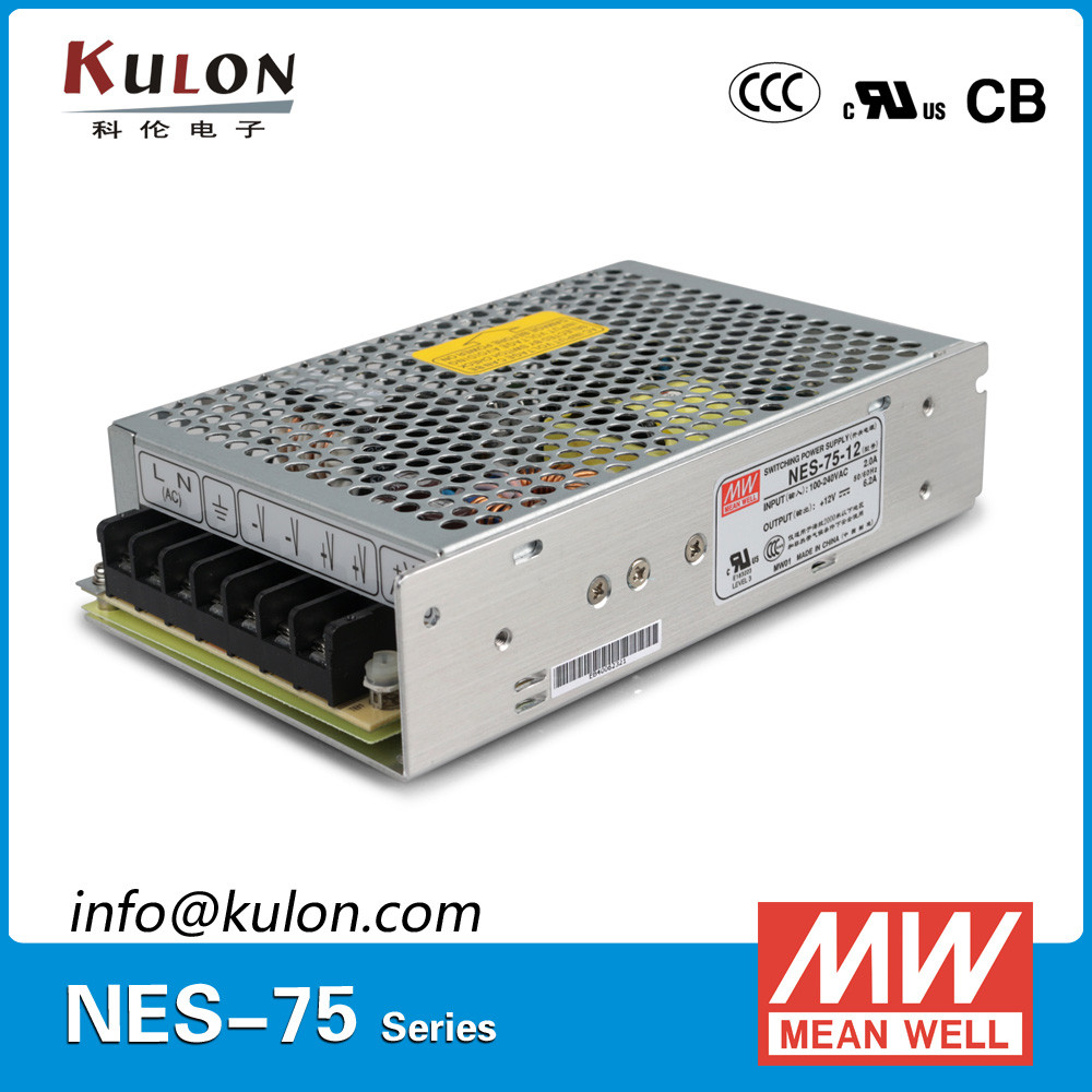 Meanwell NES-75-12 75W 12V 6.2A 100-240v 50-60hz power supply
