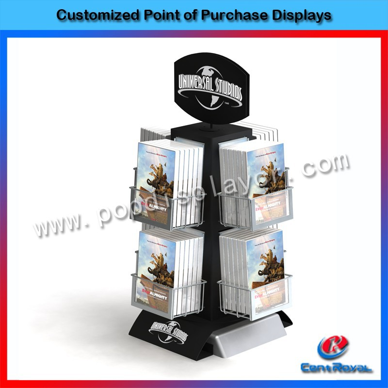 New style 2015 4-way portable wood book display stand for sale