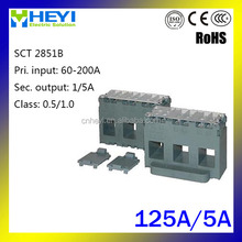New design hot style three phase stromwandler CT SCT 2851B 125A/5A cable or bus-bar three phase current transformer