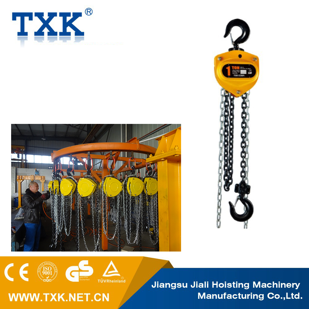 Lifting equipment chain electrical test block