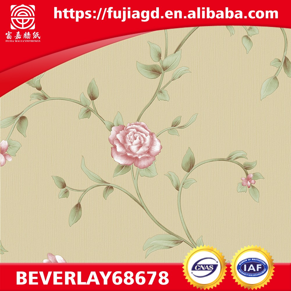 designer for home natural flower PVC modern wallpaper