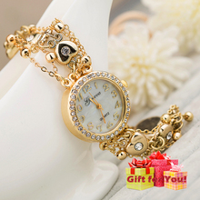 New Style Heart-shaped Diamond Pendant Bracelet Lady Watch Cestbell Special Gifts Watch