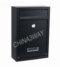 free standing outdoor aluminum casting metal office mailbox with wood stand residential