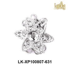 hot selling jewelry accessory flower shape stainless steel magnet lock clasp for jewelry making