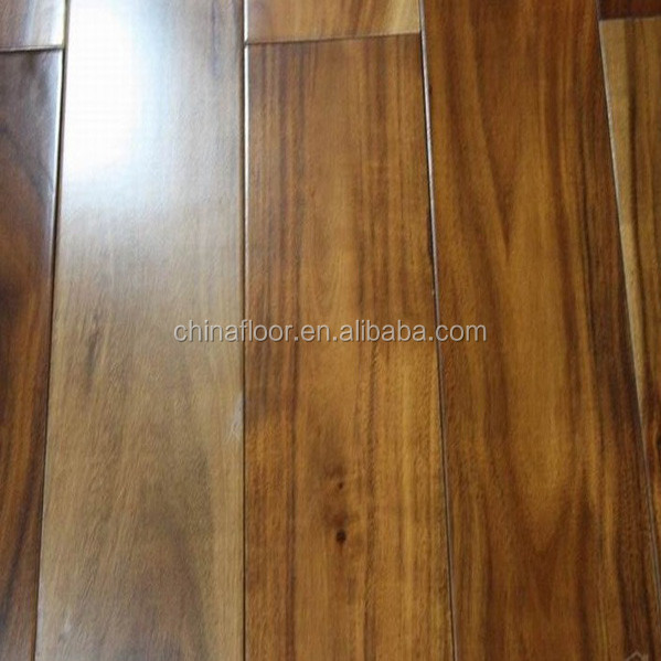 Acacia handscraped wood flooring
