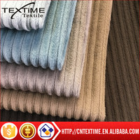 100% polyester knit corduroy fabric for sofa suit and trousers