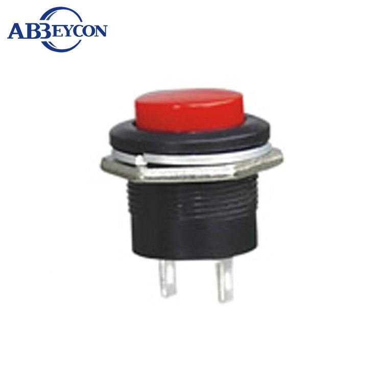 PS02 <strong>R13</strong>-507 OFF-(Momentary ON) 16mm RED plastic embedded push button switch