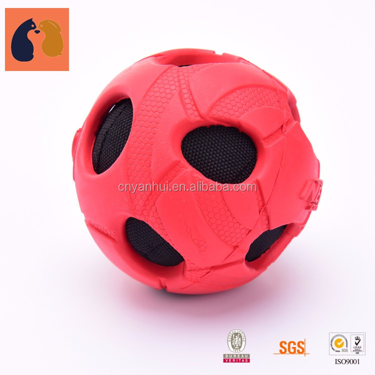 Christmas Squeaky Dog Toy Durable Balls Natural Rubber Toys