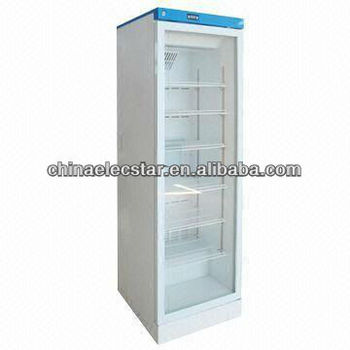 glass door Medical Refrigerator with 140 and 300L Capacity, Compressor Cooling with CE Approval