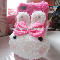 FL2926 2013 Guangzhou new arrival rabbit fur phone case for iphone 5