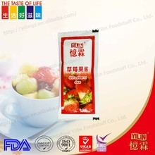cheap price delicious fresh Strawberry Jam made in china 10g packing