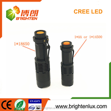China Bulk Sale OEM Mini Size Emergency Usage Tactical Zoomable Focus Dry Battery 3w Cree powerful and cheap led flashlight