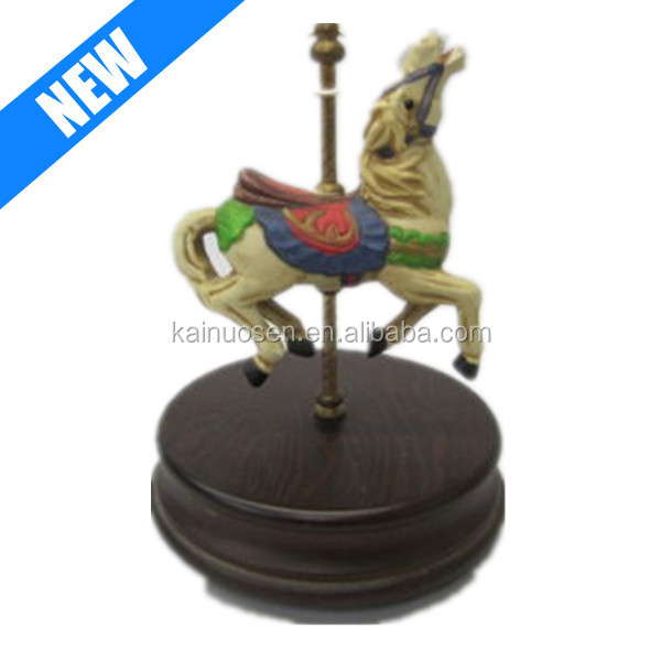 Resin Carousel Horse plays Music Box Custom for Sale