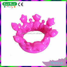 NOVELTY TOY HEN NIGHT FANCY DRESS PINK BLOW UP PRINCESS KING QUEEN INFLATABLE CROWNS