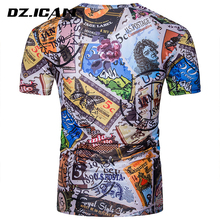 Latest Wholesale Casual Dress Men T-Shirt Digital Printing