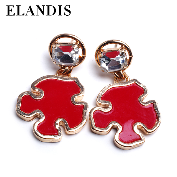 Factory direct selling The British flag alloy stud earrings ,Diamond earrings