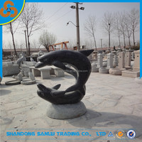 Home Decoration Garden Stone Dolphin Water