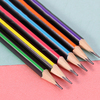 Cheap Wholesale Striped Natural Wooden Pencils