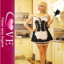 Japanese Hot Maid Pattern Latex Maid Sexy French Maid Costume