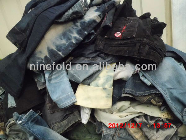 used jeans in bale/ second hand clothing used clothing