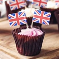 Popular wooden toothick size 2.0*65mm flag for cupcake