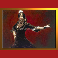 Modern Handmade Sexy Dancing Lady Wall Art Reproduction Famous Lady Painting