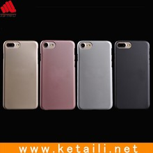 New design metal looking PC mobile phone case for iphone 7 cover with metal surface