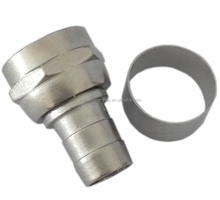 RG6 brass zinc crimp F connector with ring