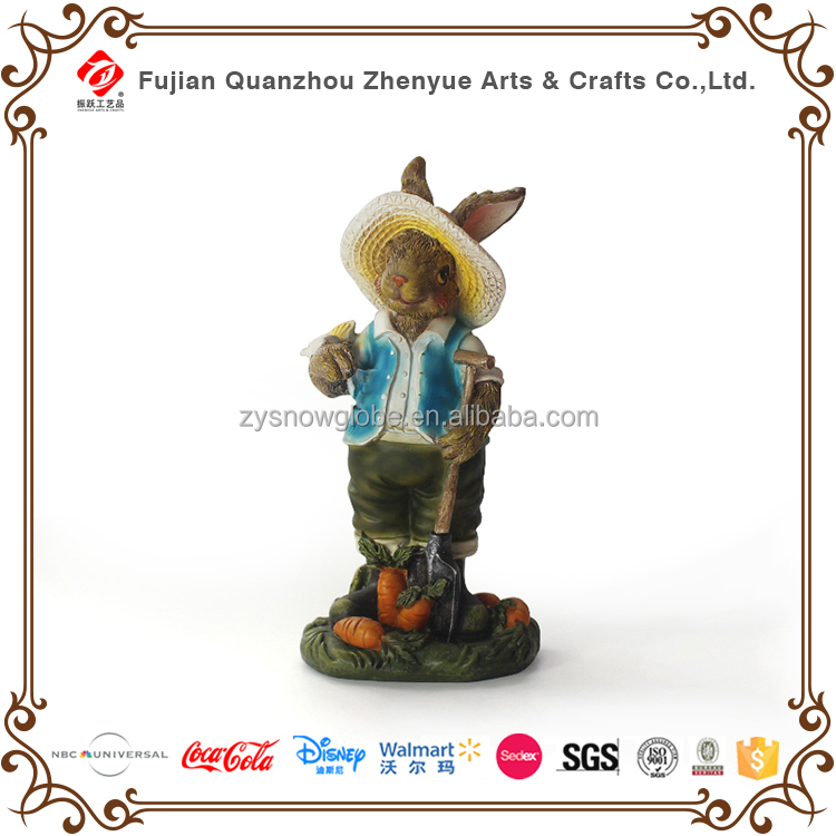 Chinese factory custom rabbit resin animal figurine