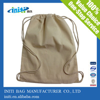 high quality eco friendly cotton linen drawstring bag