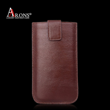 Premium leather smart phone top-down slide in cover for iphone6 case