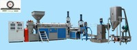 HDPE/LDPE flakes double stage waste plastic recycle granulating line