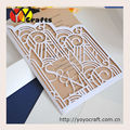 Personalized laser cut pocket invitation cards custom wedding invitation inserts