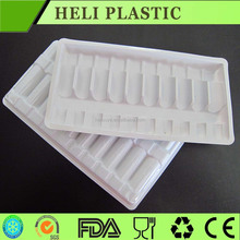 10 compartments Plastic vaccine medical Tray For Vial accept customization