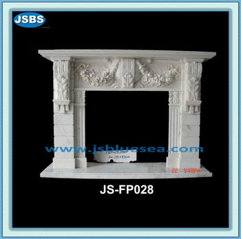 White Marble Victorian Fireplace Surround
