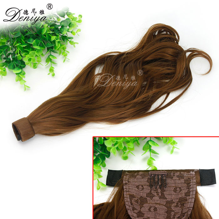 synthetic ponytail hair extensions ,Natural Wave Hair Piece ,Ponytail Hairpiece