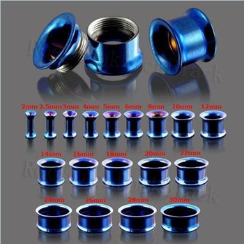 hand polishing body piercing internally threaded double flared tunnel ear tunnels gauge jewellery