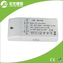 constant voltage led power driver 6w 500mA for led spotlight/led downlight/led ceiling light