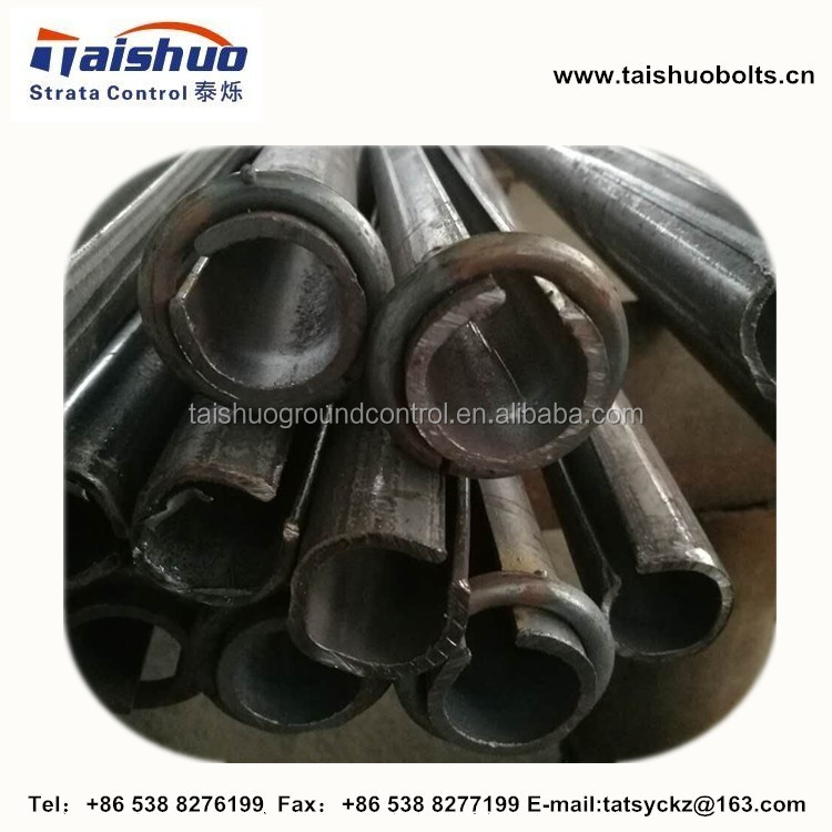 mining split sets rock bolts 34mm tube thickness 2.5mm