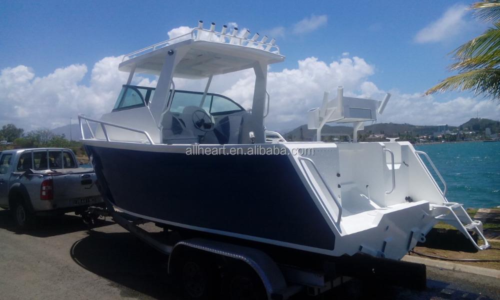 21ft deep v hull aluminum cabin fishing boat for sale for Aluminum boat with cabin for sale