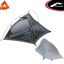 1 Person Outdoor Aluminum Waterproof 3 season Silicone Coating Ultralight Small Camping Backpacking Tent