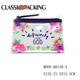 Laminated material wonderful design pink flower beach bag transparent zipper bag