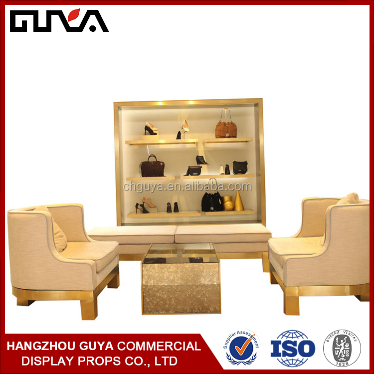 Wooden clothing store fixtures/display stands for clothing
