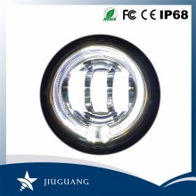 30W 10-30V DC IP67 6000k Jeep Motorcycle Led Daytime Running Light With Halo Ring