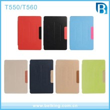 2017 Flip PU Leather Tablet Cover For Samsung T560/Folio Stand Tablet Case For Samsung T550