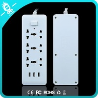 6-Outlet ul approved india australia master slave power strip design 2500W