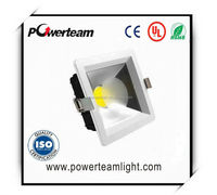 Super thin led downlight high quality square led down light 12w with COB
