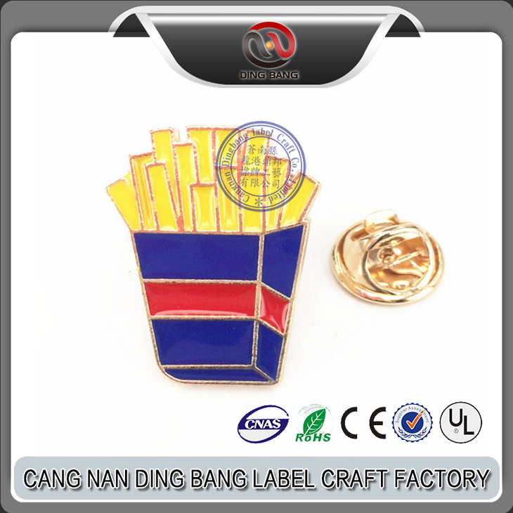Wholesale OEM Items Cheap Color Filled Type Jacket Decoration Use Gold Metal Chips Germent Decorative Brooch