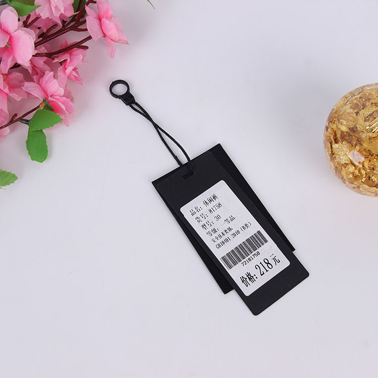 Custom original recycled paper hang tag with logo printing